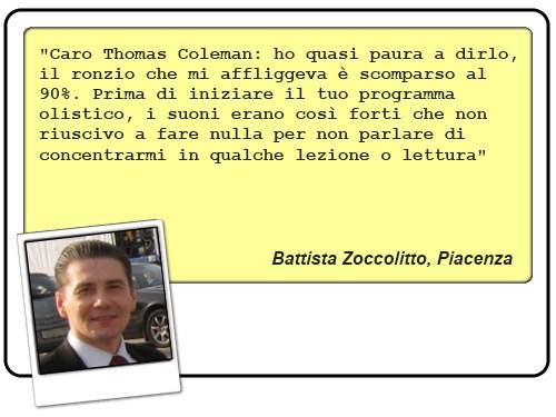 Recensione di Battista Zoccolitto, ex sofferente di acufeni