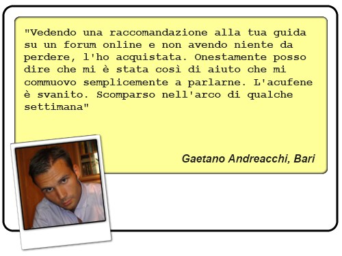 Recensione di Gaetano Andreacchi, ex sofferente di acufeni